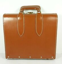 Master Products 3 Slot Catalog Case Top Grain Saddle Leather Bag Brown Vintage