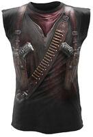 Spiral Direct HOLSTER WRAP Allover Sleeveless T-Shirt Fashion/Gun/Metal/Biker