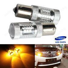 2x 1156 BA15S Amber SAMSUNG LED Bulbs Indicator Sidelight Turn Signal Light Lamp