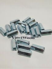 """(20) Pack, 1/4-20 X 7/8"""" Long Hex Coupling Nut (Zinc Plated) Fast Shipping."""