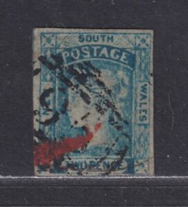 New South Wales SG 84 Scott 24b 2d Victoria Laureate Watermark Double-Lined 2