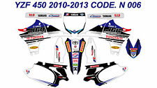 N 006 YAMAHA YZ450F 2010-2013 10-13 DECALS STICKERS GRAPHICS KIT