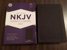 NKJV Compact Ultrathin Bible - $39.99 Retail - Brown Genuine Cowhide Leather