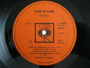 BOB DYLAN, BLONDE ON BLONDE, MINT- 1966 UK CBS MONO 1st PRESS