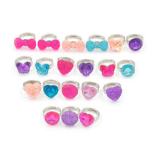 5Pcs Lovely Heart Butterfly Rings Adjustable Jwewlry Kids Fashion Accessories EO