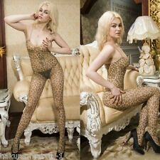Body Suit Body Stockings Hosiery Pantyhose Tights Suit Leopard Print Q6123