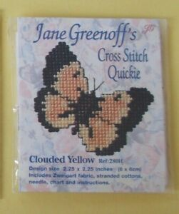 Jane Greenoffs Cross Stitch Quickie 'Clouded Yellow' Butterfly Kit  Ref:280H