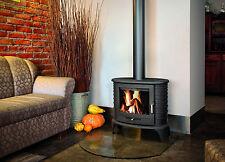 CAST IRON LOG BURNER WOOD BURNING FIRE STOVE FIREPLACE 5-11 kW