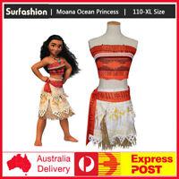 Girls &  Women Animie Polynesia princess Moana Cosplay Costume Dress halloween