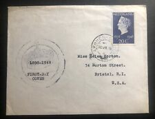1948 Arnhem Netherlands First Day Cover FDC To Bristol USA Queen Jubilee