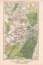 1933 London Map- Little Ealing,Ealing,Brentford,R oyal Botanic Gardens,Syon Park