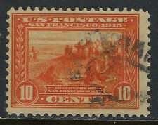 SCOTT 400A 1913 10 CENT PANAMA PACIFIC EXPOSITION ISSUE USED F-VF CAT $15!