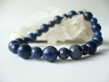 Bracelet élastique Lapis lazuli perles 8-6 mm - naturel bleu pierre fine gemme