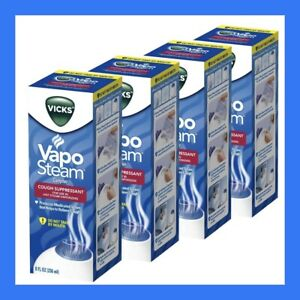 4-PACK Vicks Vapo Steam for Hot Steam Humidifier Cough Suppressant 8oz