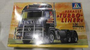 "Italeri #787 Truck model ""Renault Turbo-Liner"" 1/24 scale RARE!"