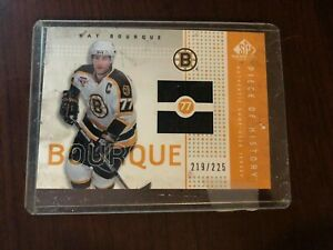 2002-03 SP Game Used Piece of 219/225 #PH-RB Ray Bourque Boston Bruins Card