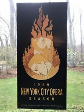 1989 New York City Opera Company Moses Und Aron Art Poster John Martinez