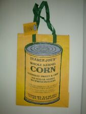 NEW TRADER JOE'S QTY 1 REUSABLE SHOPPING GROCERY ECO BAG KERNEL OF CORN