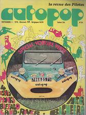 AUTOPOP 34 1974 ESSAIS MATRA BAGHEERA BYGGY BUFFALO MONKS LAND ROVER 88 CHATRE