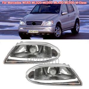 2Pcs Fog Light Driving Lamp For Mercedes W163 ML320 ML350 ML430 ML500 Left Right