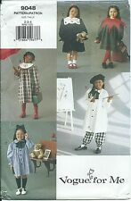 Vogue 9048 sewing pattern A-line DRESS nifty collars TOP PANTS sizes 2,3,4 UNCUT