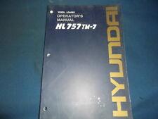 HYUNDAI HL757TM-7 WHEEL LOADER OPERATOR OPERATION & MAINTENANCE MANUAL BOOK