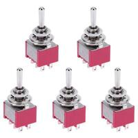 5pcs Mini 3 Positions 6Pin Toggle Switch MTS-223 Dual Reset Power Switch R1BO