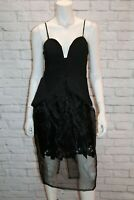 ROSEBULLET Brand Aline Lace Under Black Pouf Dress Size 8 BNWT #SI26