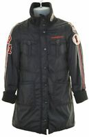 REPLAY Girls Padded Jacket 14-15 Years Medium Black Nylon  LN30