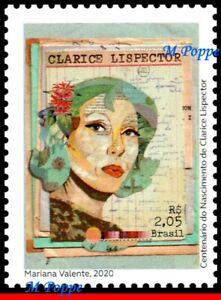 20-14 BRAZIL 2020 CLARICE LISPECTOR, FEMALE WRITER, FAMOUS PEOPLE, MNH