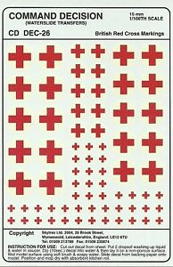 Skytrex 15mm Decals - British Red Crosses