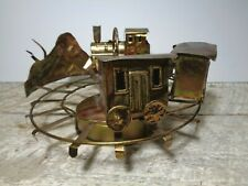 Vtg Toyo Windup Musical Train Copper Look Music Box 'King of the Road' Japan