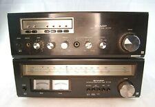 SHARP SM-1122 STEREO AMPLIFIER / ST-1122 STEREO TUNER Vintage Hi-Fi