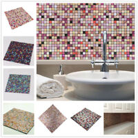 Self Adhesive Mosaic Aluminum Backsplash Tile Kitchen Bathroom Peel And Stick