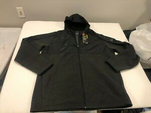 NWT $80.00 Under Armour Mens Coldgear Infrared Full Zip Hoodie Black Size XXL