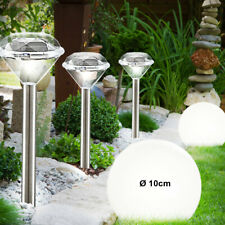 5x LED Außen Steck Lampen SOLAR Kugel Beleuchtung Edelstahl Garten Dekoration