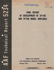 1945 AAF BELL XP-59A & YP-59A AIRACOMET JET FIGHTER DEVELOPMENT FINAL REPORT-CD