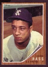 1962 TOPPS NORM BASS CARD NO:122 NEAR MINT CONDITION