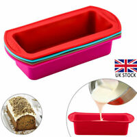 Silicone Non-stick Cake Baking Mold Toast Bread Loaf Tin Bakeware Pan Mould UK