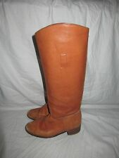 Vtg 70's Frye Campus Women's Hand-Crafted Black Label Leather Riding Boots 8