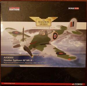 Corgi Aviation Hawker Typhoon NF Mk.IB Royal Aircraft Establishment AA36505