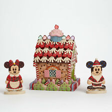 Disney Traditions*LITE UP GINGERBREAD HOUSE*Jim Shore*NEW*Mickey Mouse*4039047