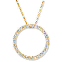 14K Yellow Gold 1/2ct Circle Of Life Diamond Pendant