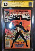 Secret Wars #8 CGC 8.5 3x signed Shooter Beatty Zeck (Dec 1984, Marvel)