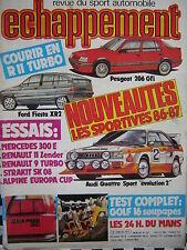 revue ECHAPPEMENT 1985 24 H DU MANS + COURIR EN RENAULT 11 TURBO + ZENDER