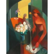 """Yunessi S/N Giclee on Paper """"Etude des Fleurs Blanc"""""""