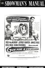 GUN FOR A COWARD pressbook, Fred MacMurray, Jeffrey Hunter, Janice Rule