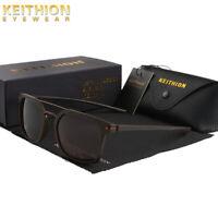 KEITHION TR-90 Slim Fit Frame Mens Polarized Sunglasses Driving Square Eyewear