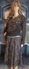 NWT Anthropologie Burning Torch Sequin Embellished Skirt  Size 6 $330 Beautiful!