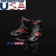"""1/6 Scale Combat Boots For 12"""" Phicen Hot Toys Female Figure U.S.A. Seller"""